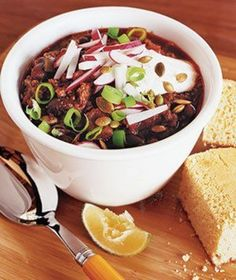 Chili for a Crowd   Whether you're craving something meaty, spicy, or vegetarian, you can't go wrong with one of these cozy recipes.