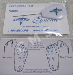 MEDLINE Monofilament Diabetic Neuropathy Foot Test 5.07 10g Darco Foot Filament  #ad