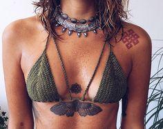 Straps Bikini Bottom // Crochet Bikini Bottom // by saravah