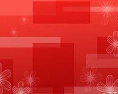 Plantilla PowerPoint Rojo con Flores y Colorido deslumbrante
