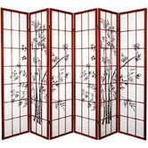 """Found it at Wayfair - 70.25"""" x 85"""" Lucky Bamboo 6 Panel Room Divider"""