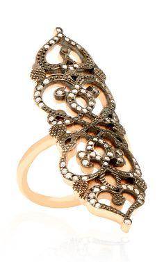 18K Rose Gold Medieval Ring by Sabine G for Preorder on Moda Operandi