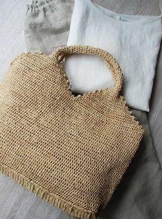 Linen & raffia bag | Concept store PAO Kyoto Japan