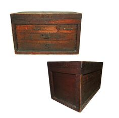 A great find in Antique Crafted Wood Tool Boxes. This Century Machinist box is heavy and large in size measuring 23 Length X 13 Depth X 14 H Vintage Gifts, Vintage Home Decor, Unique Vintage, Etsy Vintage, Vintage Shops, Vintage Items, Vintage Man, Vintage Stuff, Wood Tool Box