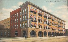MT CLEMENS MICHIGAN HOTEL MEDEA OLD POSTCARD