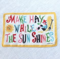 Make Hay While the Sun Shines ...Carl Tait Cocktail Napkin