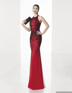 28dc09c6 30 vestidos rojos de fiesta para dejar huella #beautiful #love #boda  #matrimonio