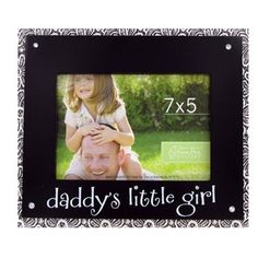 """Green Tree Gallery 7"""" x 5"""" Daddy's Little Girl with Bling Frame 