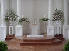 Wedding Flowers - Church decorations.