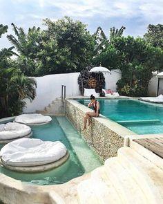 42 Beautiful Indoor and Outdoor Swimming Pool Designs Pool House Designs, Backyard Pool Designs, Swimming Pools Backyard, Swimming Pool Designs, Backyard Landscaping, Landscaping Ideas, Backyard Ideas, Outdoor Pool, Outdoor Decor