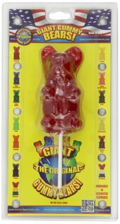 Giant Gummy Bear On A Stick Cherry oz. Little Girl Toys, Cool Toys For Girls, Diy For Kids, Frozen Cupcake Toppers, Kids Toys For Christmas, American Girl Doll Room, Rainbow Food, Rainbow Desserts, Princess Toys