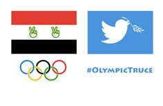@Dick Cleveland Any chance of extending an Olive branch to your logo for the Olympics  #olypmictruce #olympicpeace