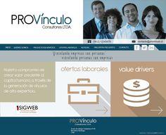 Maqueta de Sitio Web para ProVinculo