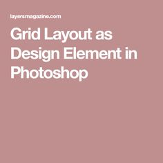 Grid Layout as Design Element in Photoshop