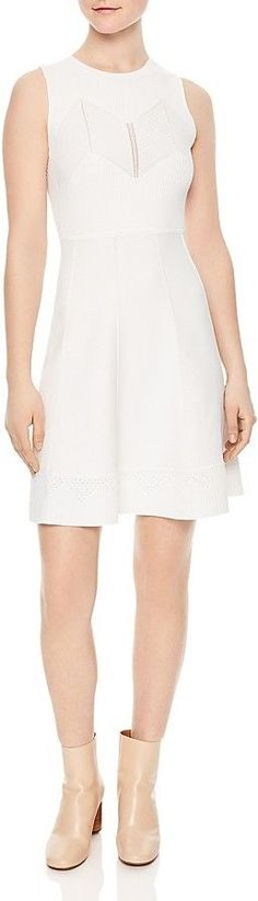 Sandro Areva Ribbed Knit Dress
