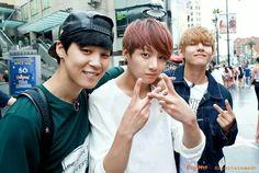 Jimin, Jung Kook, & V