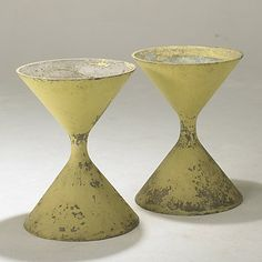 WILLY GUHL; ETERNIT (Switzerland) Pair of 1950's concrete planters