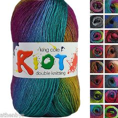 100g Ball Moods Double Knitting Soft Knit Yarn King Cole Wool Acrylic Blend DK