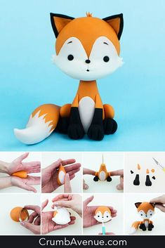 Fox Cake Topper TUTORIAL - The Effective Pictures We Offer You About diy A quality picture can tell you many things. Cake Topper Tutorial, Fondant Tutorial, Fondant Animals Tutorial, Fimo Kawaii, Homemade Fondant, Fox Cake, Woodland Cake, Fondant Cake Toppers, Sugar Craft