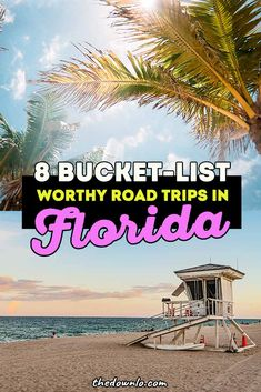 Florida road trip ideas and destinations -- an itinerary from north to south hitting Orlando, Miami, the Florida Keys and everywhere in between. Where to go in the sunshine state with kids, couples and girlfriend getaways. Beautiful places to travel and vacation spots for the whole family for spring break and summer trips. #fl #florida