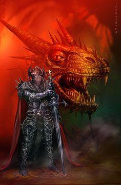 Dragon Knight by Jan Patrik Krasny - Fantasy art galleries at Epilogue.net - Fantasy and Sci-fi at their best