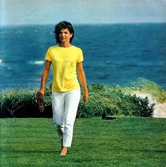 """""""I have a tendency to get into a downward spiral of depression or isolation when I'm sad.  To go out, to take a walk, to take a swim, that's very much what the Kennedys do.  It's a salvation, really."""" - JBKO"""
