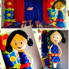 Festa Luna Decoração de festa  show Luna  Ideia de festa Luna  Decoração com balões Luna  Escultura de balões Luna