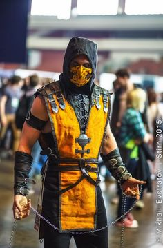 Scorpion Cosplay mortal kombat X by melonicor Mortal Kombat Cosplay, Scorpion Mortal Kombat, Mortal Kombat Costumes, Mortal Kombat Art, Comic Con Costumes, Cool Costumes, Cosplay Costumes, Costume Ideas, Epic Cosplay