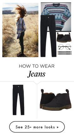 """Tribal 'N Jeans"" by lilypanikpayne on Polyvore featuring Dr. Martens"