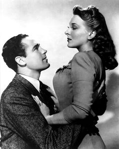 With Patric Knowles around the time of THE WOLF MAN (1941).