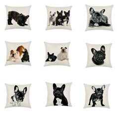 Bulldog Husky Dog Dachshund Cushion Cotton Linen Pillowcase Decorative Pillows Use For Home Sofa Car Office Almofadas Cojines Car Office, Textiles, Home Textile, Cotton Linen, Dachshund, Decorative Pillows, Pillow Cases, Stockings, Cushions