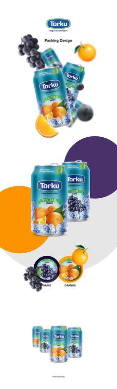 Torku (Konya Şeker) Orange and Grapes Nectar Packing Design