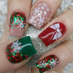 Christmas Acrylic Nails 2017 - Beautiful Nails Acrylic Design for Christmas 2017 12 - Beautiful Nails Acrylic Design for Acrylic Nails 2017, Acrylic Nail Designs, Gel Nails, Nail Polish, Toenails, Christmas Nail Art Designs, Holiday Nail Art, Christmas Design, Trendy Nails