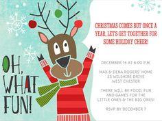 FREE PRINTABLE AND CUSTOMIZEABLE Christmas Invitations - Smilebox