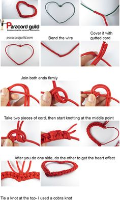 paracord heart decoration tutorial