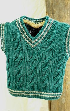 [Free Pattern] This Cable Vest Is Too Cute!