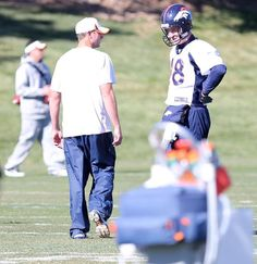 Thursdays practice shots - Getting ready for the Chargers week 10 - Gase & Manning.