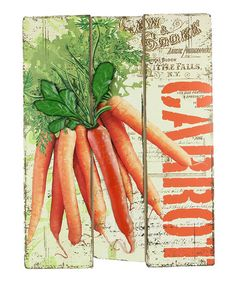 Look at this Carrot Wall Art Kitchen Essentials, The Great Outdoors, Carrots, Make It Yourself, Wall Art, Wood, Craft Ideas, Decor Ideas, Berries