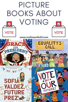 Are you looking for books to teach children about voting? Check out these picture books about voting. They are the perfect collection of books for kids about voting!