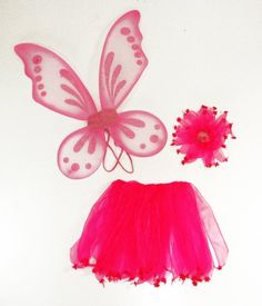 Fairy wings, skirt and pony holder Pony O, Girl Costumes, Costume Ideas, Fairy Wings, Halloween Costumes For Kids, Hair Ties, Pink Girl, Pixie, Dress Up