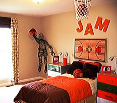 1000 images about kids room on pinterest basketball for Boys basketball bedroom ideas
