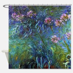 Claude Monet Jewelry Lilies Shower Curtain for