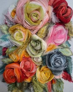 Tissue paper flowers by marianne eriksen scott-hansen идеи flores de papel, Tissue Paper Flowers, Paper Flower Wall, Fabric Flowers, Flower Canvas, Flower Crafts, Flower Art, Scott Hansen, Tissue Paper Crafts, Paper Artwork