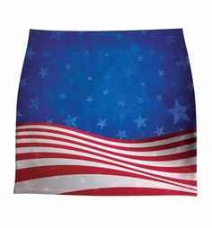 woman american flag stars and stripes XS-3XL SKIRTS  print by hellominky (s5-17)