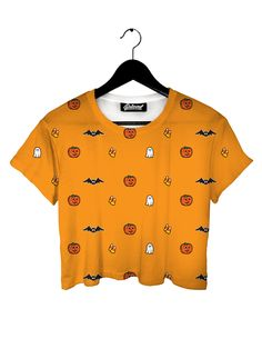 """belovedwear® presents the #Halloween #CropTee This """"all over"""" print Crop-Tee is made using a special sublimation technique to provide a vivid graphic image throughout the shirt. Because these are subl"""
