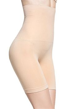 4a663d02e52 Smallshow Women s Shapewear Hi-Waist Tummy Control Inner Thigh Slimmer  Nude Black