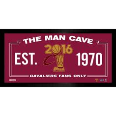 Cleveland Cavaliers 2016 NBA Champions 10x20 Man Cave Framed Print