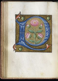 Leaf from Alphabet Book - Walters Museum, Baltimore - 16th century French manuscript.
