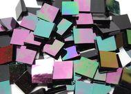 Bulk Discount - Black Iridescent Waterglass Stained Glass Mosaic Tiles