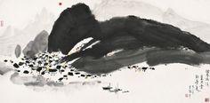 Wu Guanzhong- Sunrise
